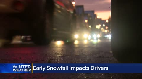 October snowfall gives area drivers a wake-up call