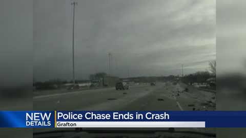 Theft in Grafton leads to police chase resulting in crash