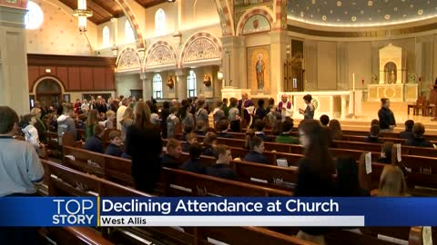 Church attendance declines as US adults drop religious associations