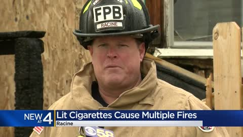 Racine Fire Department reports 4 fires in 6 days all caused by smoking materials