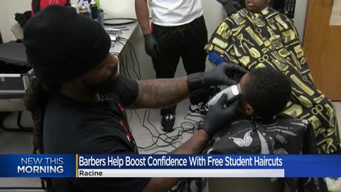 Racine barbers help build student confidence with free haircuts