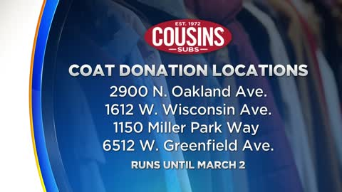 Cousins Subs offers free sandwich with coat donation thanks to...