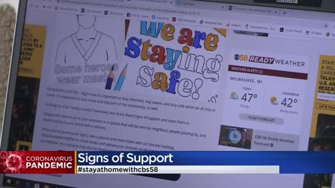 Download, color and share CBS58's Signs of Support during COVID-19