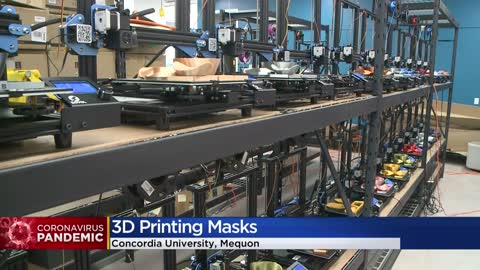 'Collaborative spirit:' Concordia University, volunteers making masks with 3D printers for healthcare workers