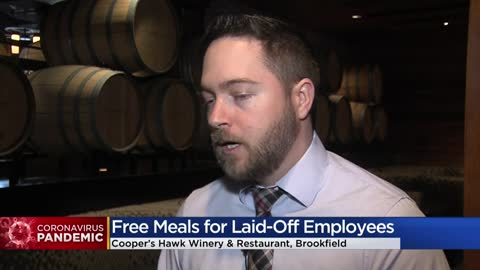 ' Cooper's Hawk Winery & Restaurant providing free meals...