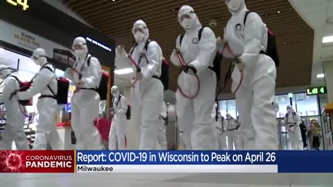 Peak Wisconsin COVID-19 deaths projected April 26, report says