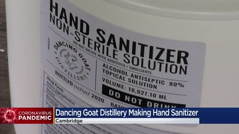 "Skip the whiskey and gin, just pass the sanitizer at the ""Dancing..."