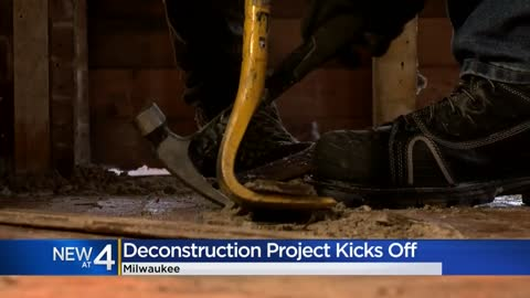 City contractor begins first housing deconstruction project