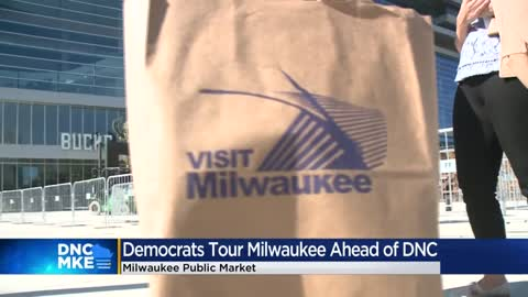 Democrats tour Milwaukee ahead of DNC