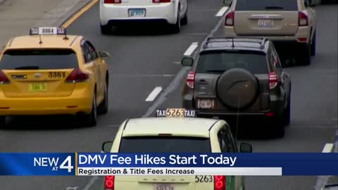 New DMV fees in effect Oct. 1
