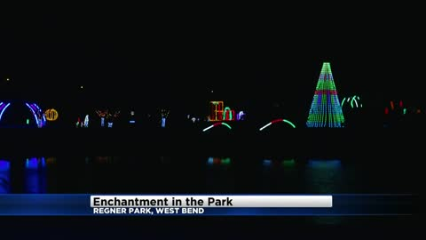 Enchantment in the Park using nearly 1 million lights at Regner Park in West Bend