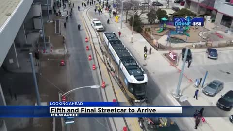 Fifth and final streetcar for The Hop arrives Friday