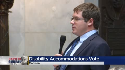 Wisconsin lawmaker's fight for accommodations turns partisan