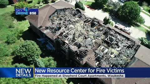 Resource center opens for tenants displaced by Waukesha apartment fire
