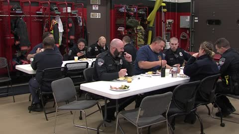 Greenfield Fire Department prepares Thanksgiving dinner for first responders