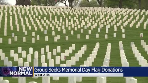 Group asks for donations to place flags at veteran grave sites on Memorial Day