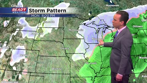 Quiet weekend gives way to messy Monday and drastic cold