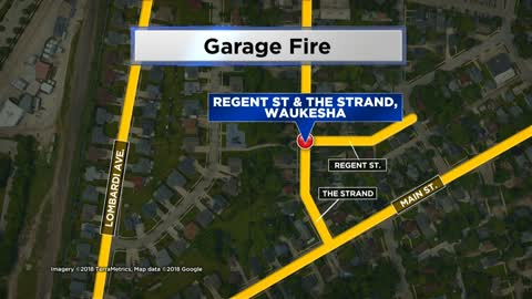 Waukesha garage fire causes more than $20,000 in damage
