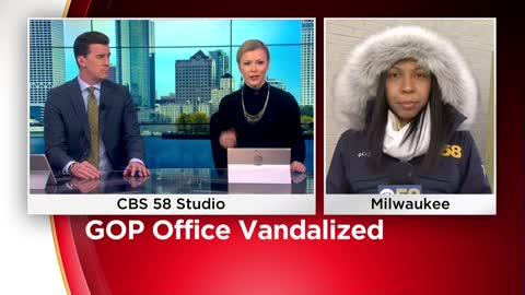 Wisconsin's GOP field office in Milwaukee vandalized