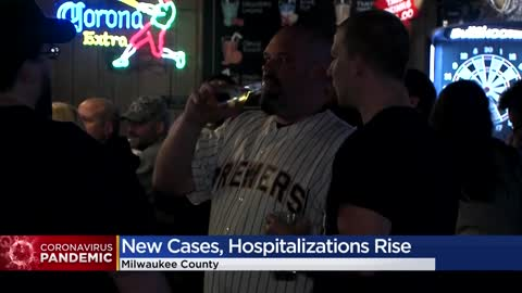 Milwaukee County sees increase in positive COVID-19 cases, hospitalizations