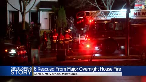 6 rescued in Milwaukee house fire near 33rd and Mt. Vernon