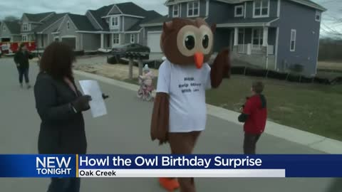 Children's book character 'Howl the Owl' wishes kids happy...