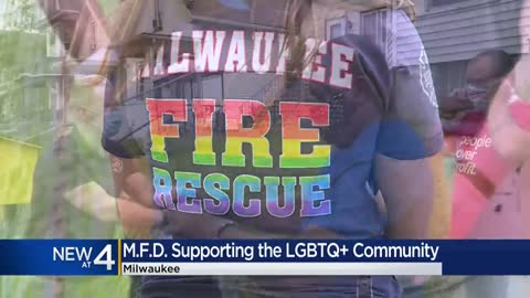 Milwaukee Fire Department backs LGBTQ community with custom T-shirt...