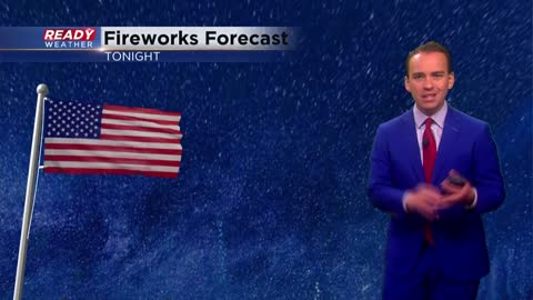 4th Cast: Mostly dry for parades and fireworks but stormy in between