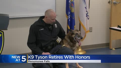 Menomonee Falls K-9 officer 'Tyson' retires with honors