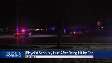 Bicyclist seriously hurt after being hit by car in Kenosha