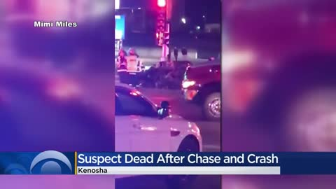 Suspect dies following chase, crash with Kenosha police; incident under investigation