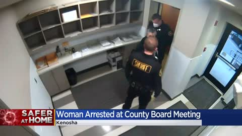 Woman arrested trying to attend Kenosha County Board meeting amid social distancing orders