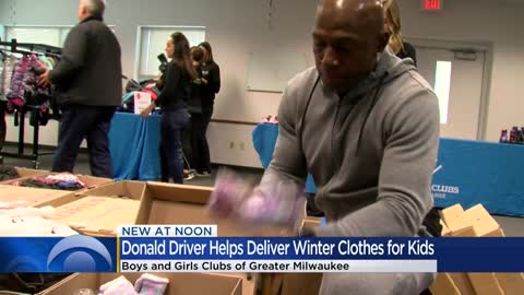 'My goal was to always give back:' Kohl's, Donald Driver donate winter clothes to area Boys & Girls Clubs