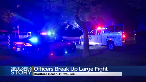 ' Large fight breaks out on Milwaukee's lakefront