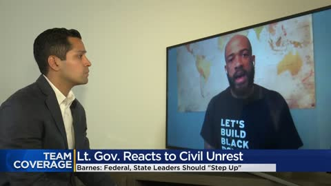 Lt. Gov. Barnes on protests: 'Time for structural change is...