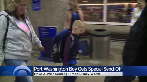 Make-A-Wish gives Port Washington boy special send-off to Disney World