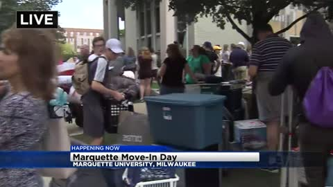 Move in day at Marquette University
