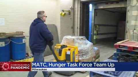 MATC donates food and supplies from culinary arts program to Hunger Task Force