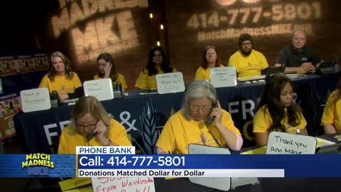 Hunger Task Force, CBS 58 Match Madness MKE phone bank raises $29K+