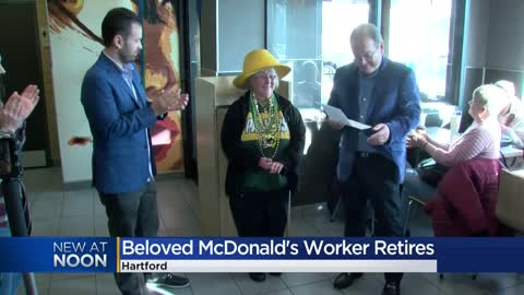 'An icon in the Hartford community:' Area McDonald's throws retirement party for employee of 26 years