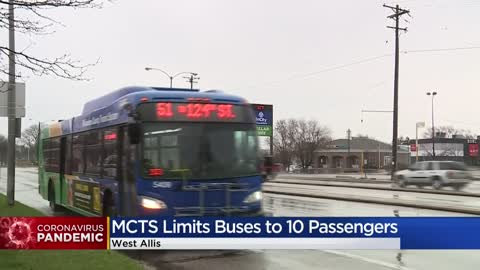 MCTS sets 10-passenger limit per bus to help slow Coronavirus...