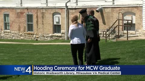 Medical College of Wisconsin grad participates in hooding ceremony