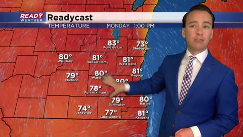 Warmest temps of the year arrive for Memorial Day with an isolated...