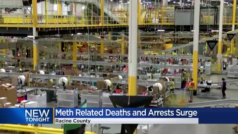 Racine County experiences a 350-percent increase in meth arrests...
