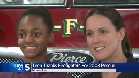 Teen reunites with firefighters who saved her life when she was 3-years-old