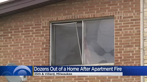 More than 40 people displaced after apartment fire in Milwaukee