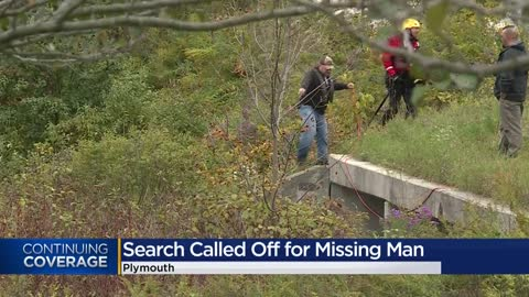 Authorities halt search for man who jumped into Plymouth river to retrieve dog