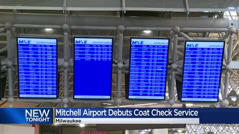 Traveling somewhere warm? Mitchell International Airport debuts coat check service