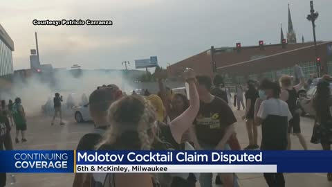 Molotov cocktail thrown at officers during protests Tuesday...