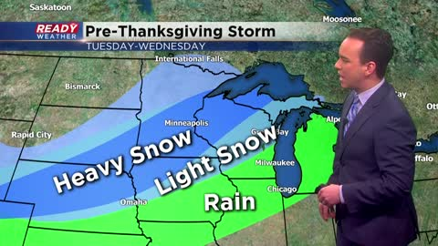 Pre-Thanksgiving storm brings rain to southern Wisconsin, heavy snow for northern Wisconsin